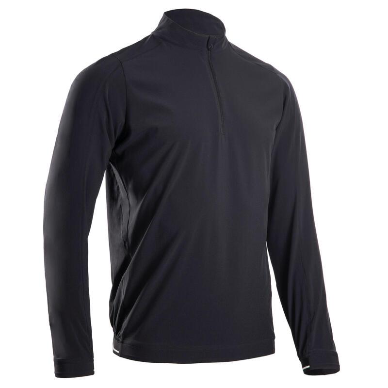 Veste demi zip de golf coupe-vent et déperlante pour homme RW500 noire