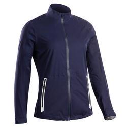 Regenjack voor golf dames RW500 marineblauw