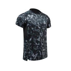有氧健身排汗透氣訓練T恤 DOMYOS FTS 120 - 印花