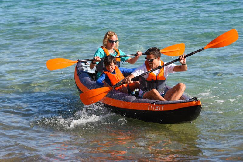 Inflatable Touring Kayak 2/3 Places Orange
