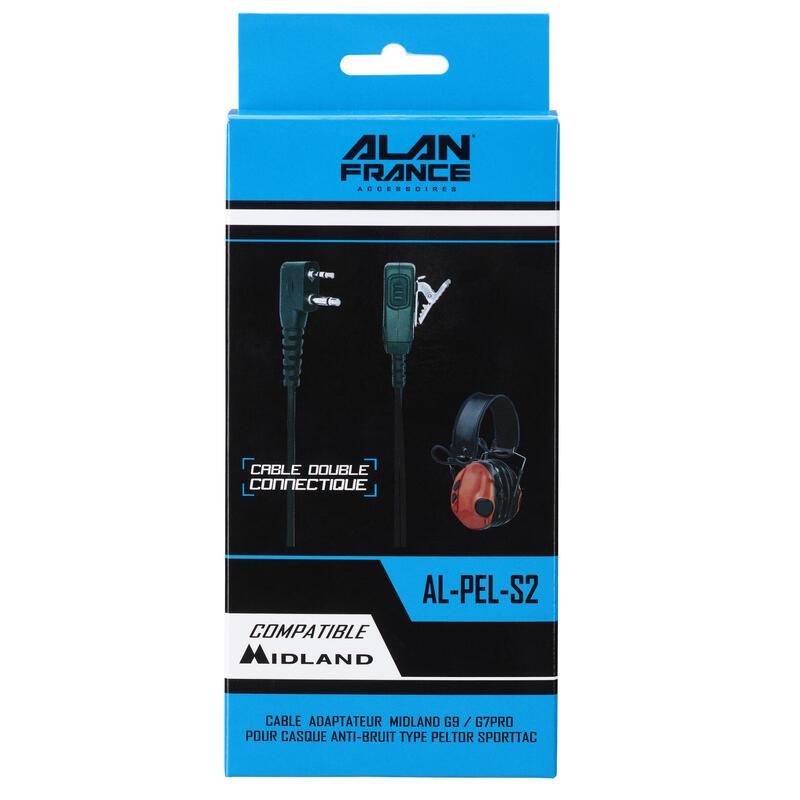 Kabel voor Sportac oorkap - compatibel met walkietalkie Midland G9