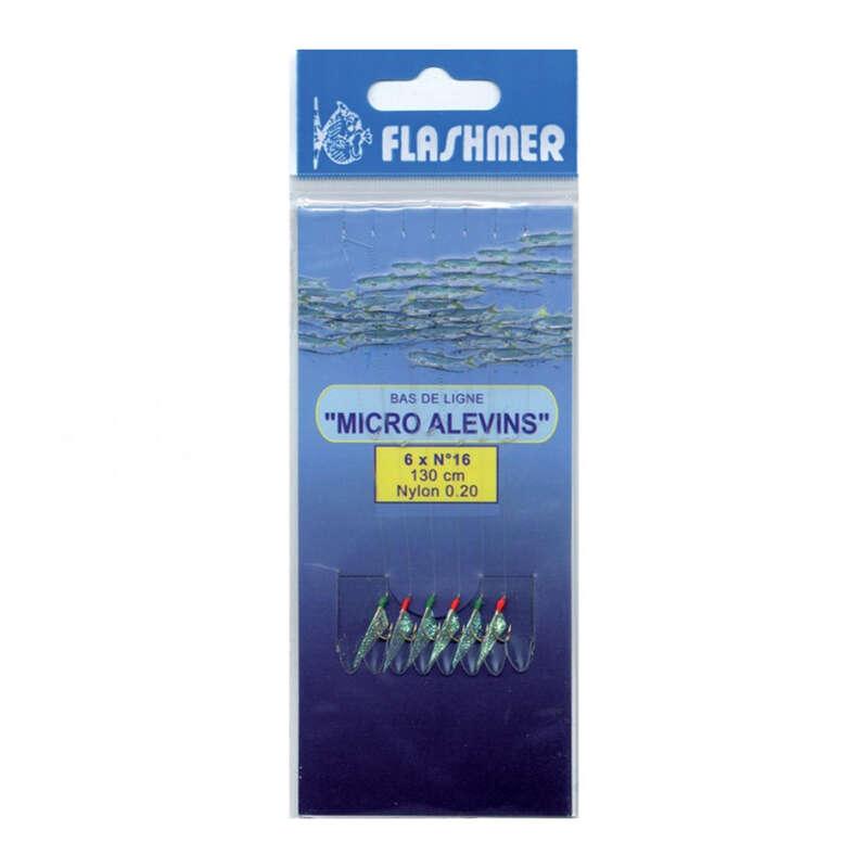 МОНТАЖИ С ПЕРА Риболов - Повод Micromit с 8 куки №16 FLASHMER - Морски риболов с примамки
