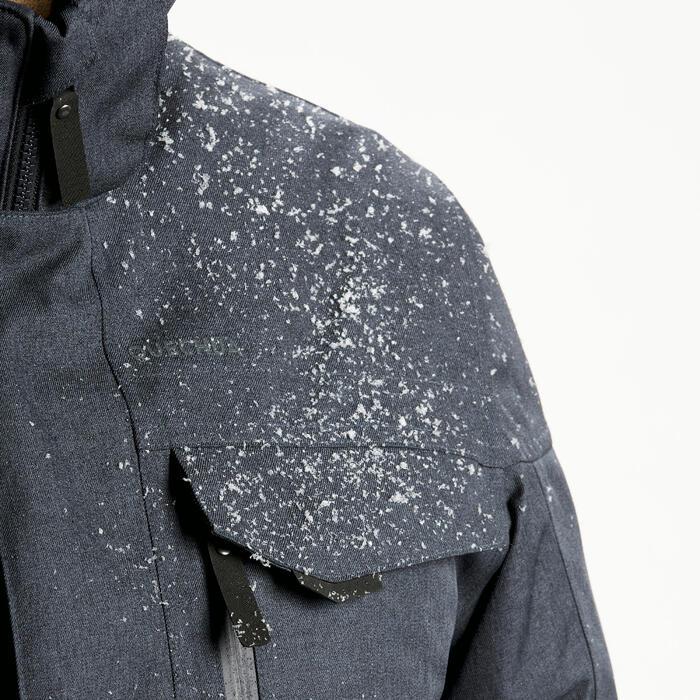 Winterjacke Blouson Winterwandern SH100 X-Warm wasserdicht –10 °C Herren