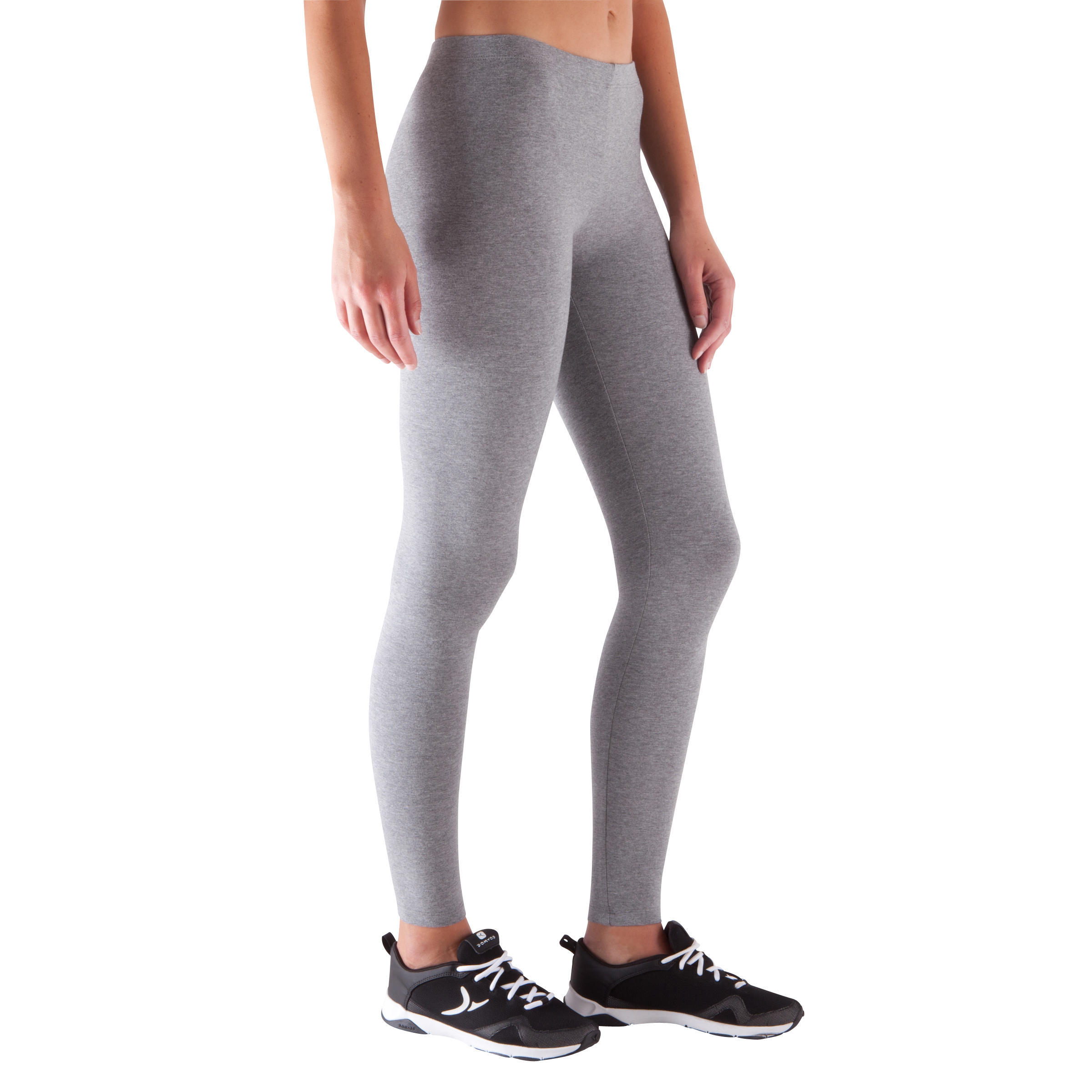 Salto Women's Slim-Fit Fitness Leggings - Mottled Grey