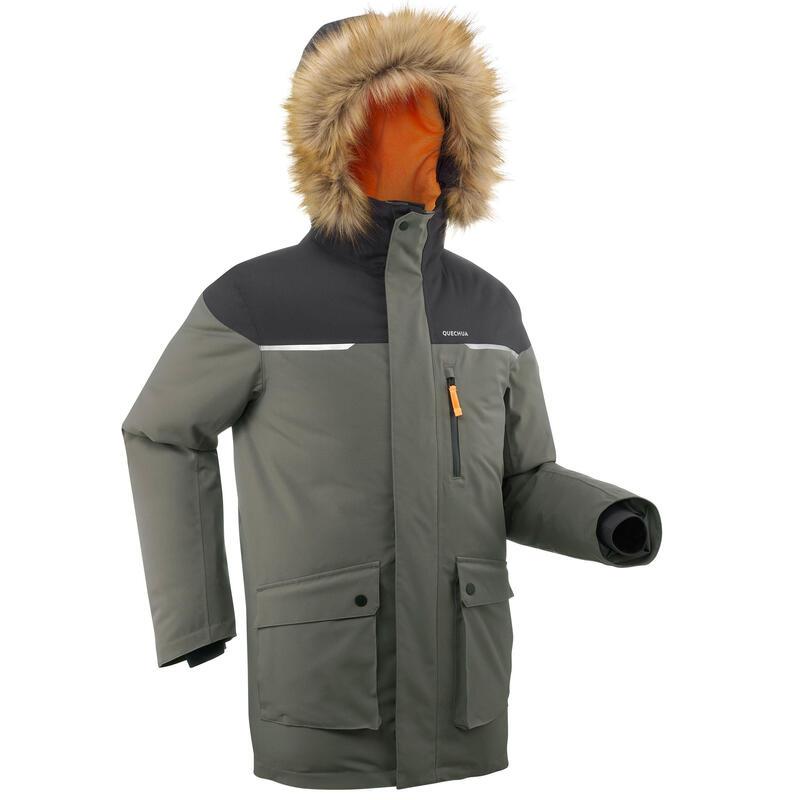 Chlapecká turistická nepromokavá bunda do -19 °C SH 500 Ultra-warm