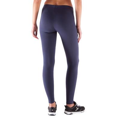 Legging slim SALTO, fitness femme, bleu marine