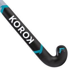 Feldhockeyschläger FH500 Glasfaser Mid Bow Jugendliche grau/türkis