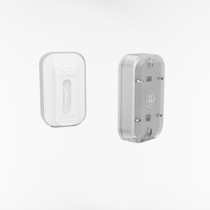 Fahrradbeleuchtung LED CL 500 Vorder- und Rücklicht USB weiß