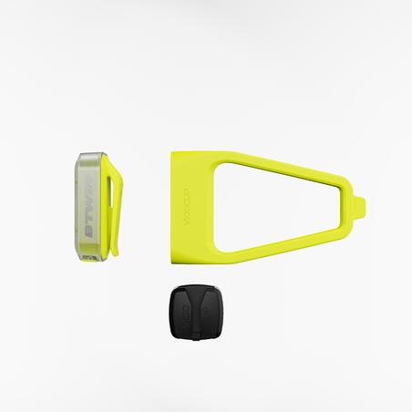 LUZ LED DE BICICLETA LED CL 500 DELANTERA/TRASERA AMARILLO CARGA USB