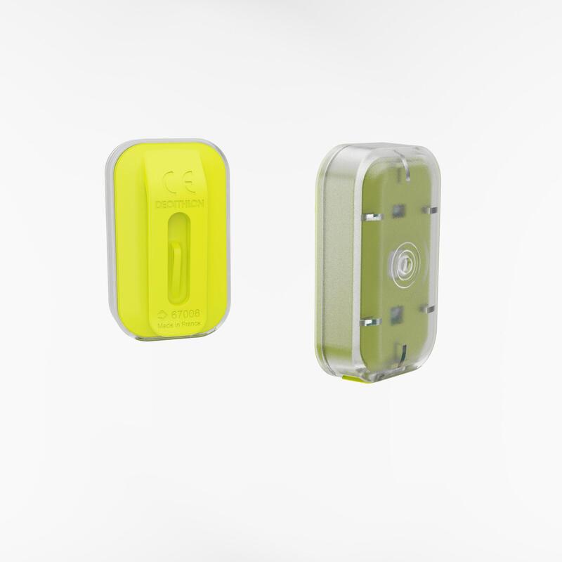 LUZ LED FRENTE/TRÁS USB BICICLETA CL 500 AMARELO