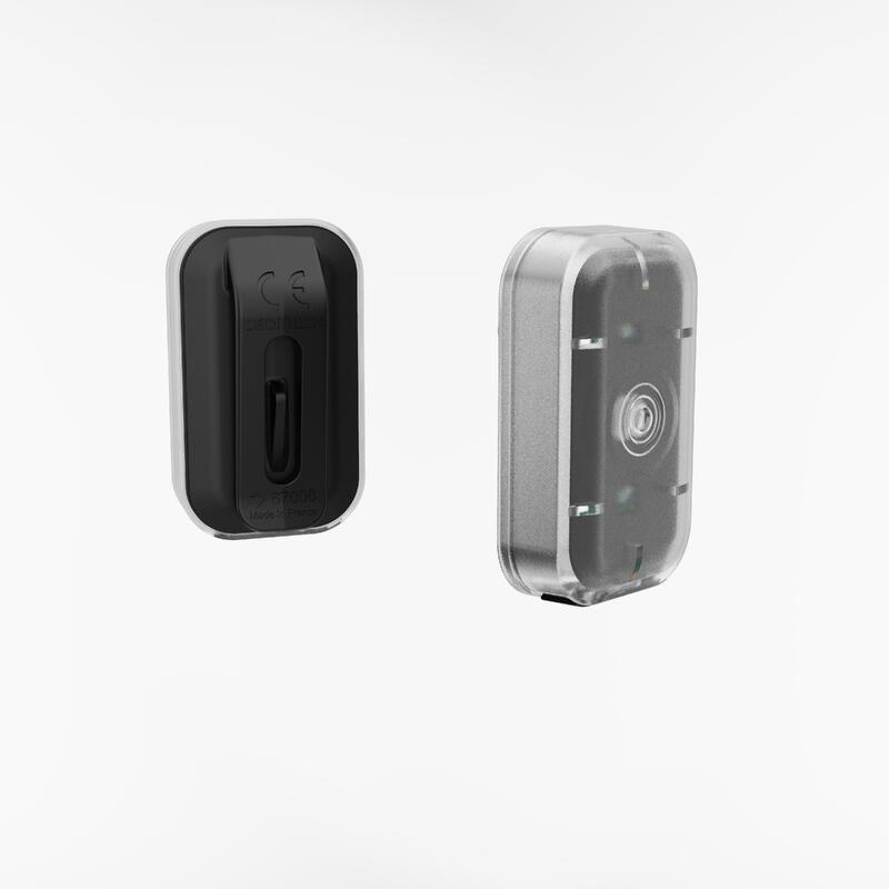Luce anteriore e posteriore led CL 500 USB nera