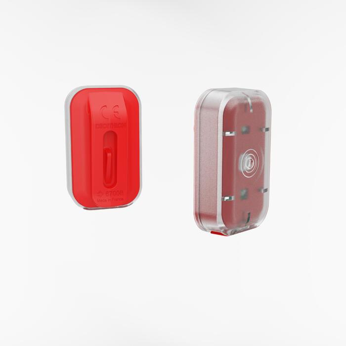 Fahrradbeleuchtung LED CL 500 Vorder- und Rücklicht USB rot