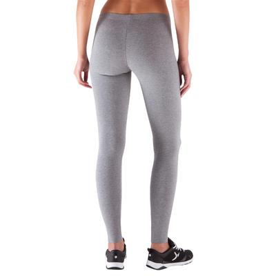 Legging slim SALTO, fitness femme, gris chiné