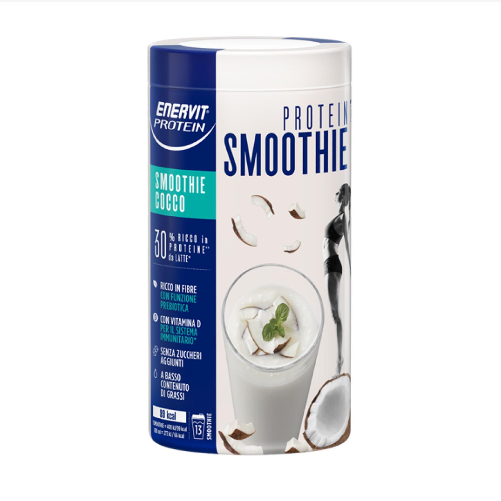 ENERVIT. Smoothie proteico bevanda al cocco proteica vegana senza grassi.