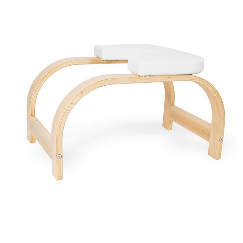 Banco silla yoga invertidas sirsasana blanco