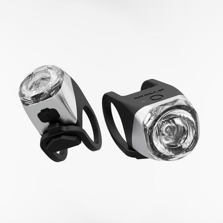 LUZ DE BICICLETA LED FL 900 DELANTERO NEGRO Y PLATA CARGA USB