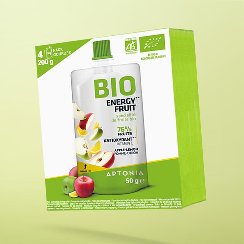 BIO ENERGY FRUIT SPECIALITE DE FRUITS A LA POMME ET AU CITRON X4