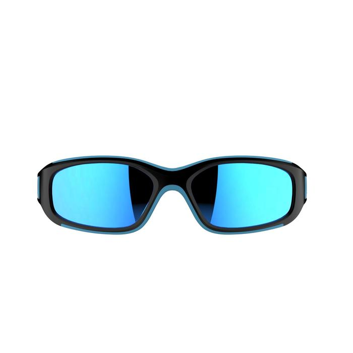 Lunettes de soleil randonnée enfant 4-6 ans KID 700 noires & bleues catégorie 3 - 205921