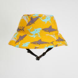 兒童款衝浪帽-黃色/鯊魚款