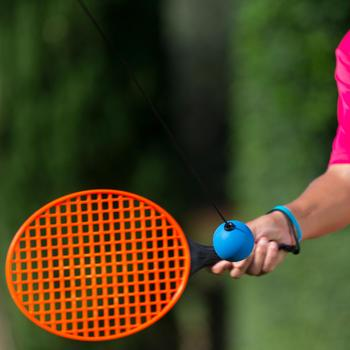 """Pack de Speedball (1 Mât, 2 Raquettes et 1 Balle) """"TURNBALL GRIS/BLEU"""""""