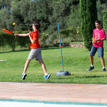 """Speedball-set (1 paal, 2 rackets en 1 bal) """"Turnball grijs/blauw"""""""
