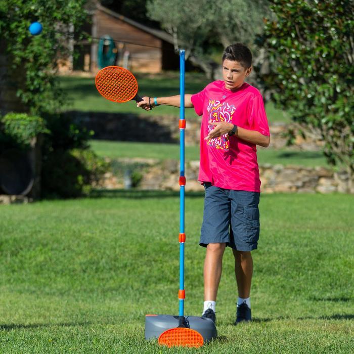 "Speedball-Set (1 Mast, 2 Schläger, 1 Ball) ""Turnball grau/blau"""