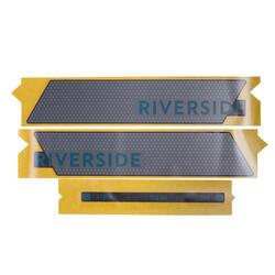 Autocolante de Bateria Riverside 500E Cinzento Verde