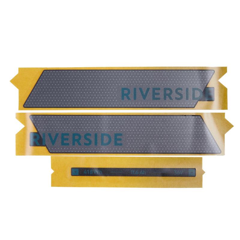Stickers voor accu Riverside 500E grijs/groen