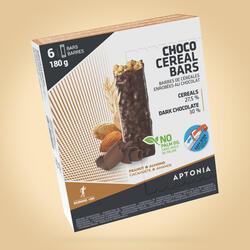 Barra de cereais cobertura Chocolate preto, amêndoas, amendoins 6x30 g
