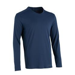 Sun Protect Men's Running T-Shirt - Whale grey