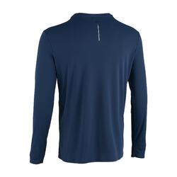 男款跑步T恤Sun Protect - 灰鯨藍