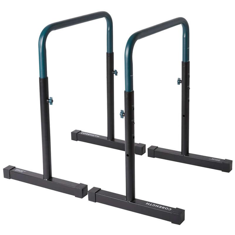 PRIBOR ZA VJEŽBANJE TEŽINOM TIJELA Fitness - Stalak za vježbanje TS 100 CORENGTH - Šipke za zgibove i stalci za propadanja