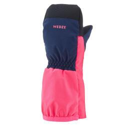 Luvas sem dedos de Ski Quentes e Impermeáveis Criança - Azul / Rosa fluorescente