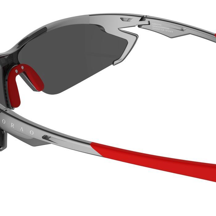 Lunettes de soleil vélo & running adulte ARROYO PACK grises verres changeables - 206164