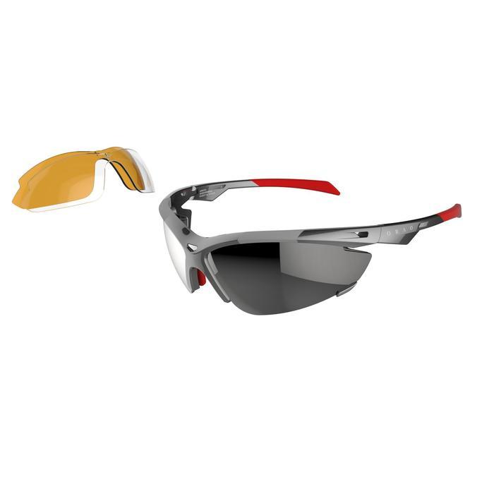 Lunettes de soleil vélo & running adulte ARROYO PACK grises verres changeables - 206166