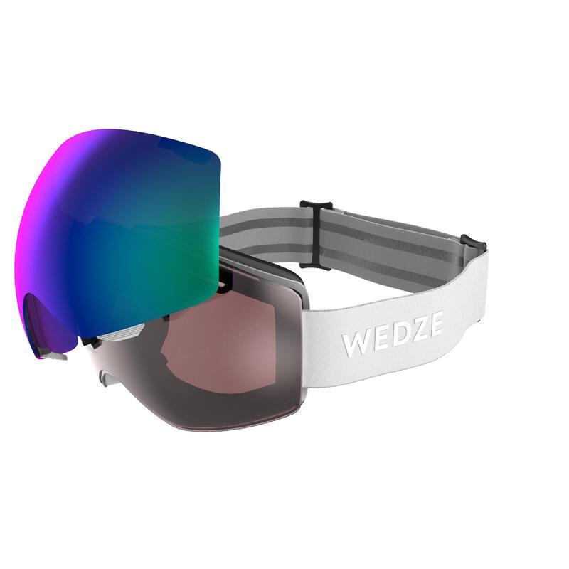 Ski- en snowboardbril voor volwassenen en kinderen G 900 I alle weertypes wit