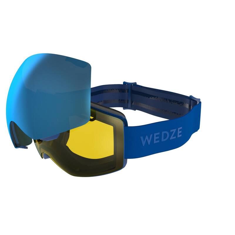 LYŽAŘSKÉ NEBO SNOWBOARD BRÝLE Snowboarding - LYŽAŘSKÉ BRÝLE G900 I MODRÉ  WEDZE - Ochranné prvky a příslušenství