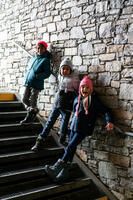 Kids' Timeless Peruvian Ski Hat - Light Grey