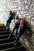 DĚTSKÉ LYŽAŘSKÉ ČEPICE Lyžování - DĚTSKÁ UŠANKA TIMELESS ŠEDÁ WEDZE - Lyžařské oblečení a doplňky
