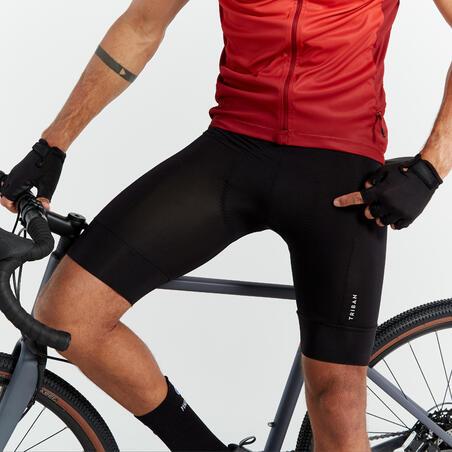 RC500 Road Cycling and Bike Touring Bibless Shorts - Black