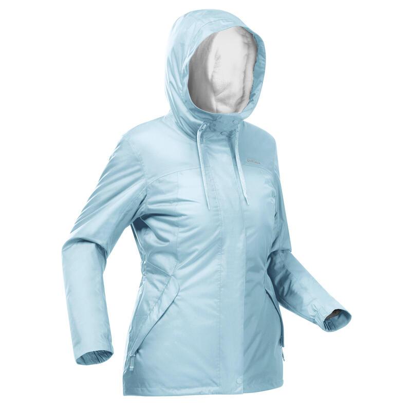 Casaco quente impermeável de caminhada -SH100 X-WARM - Mulher