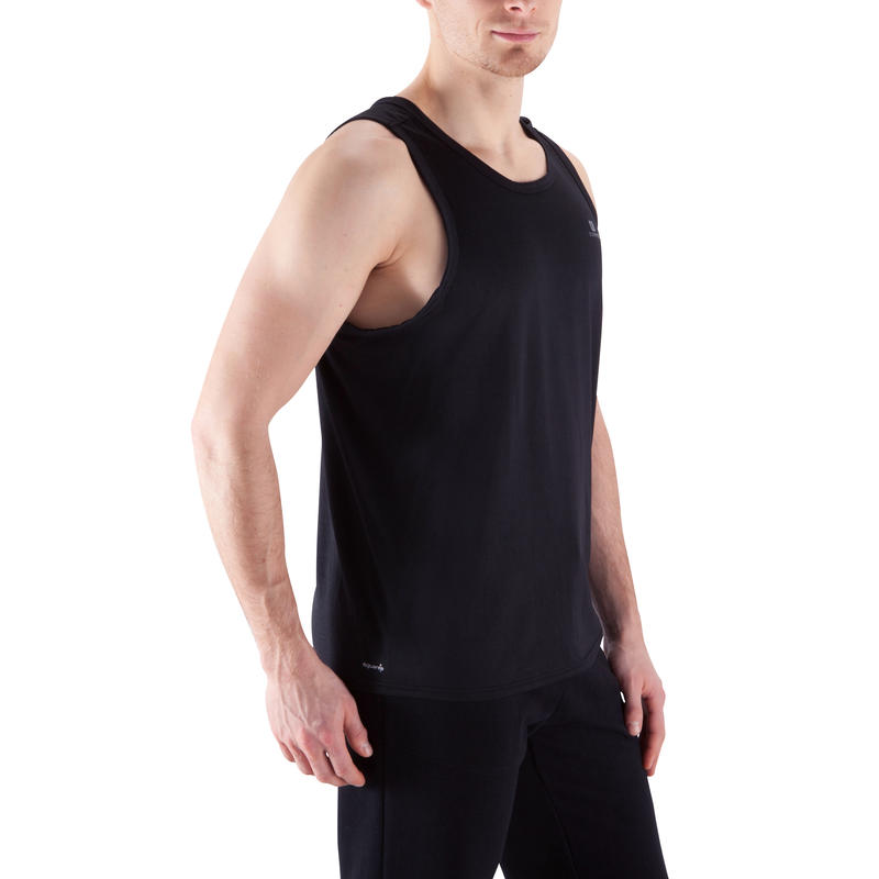 Men's Stay Dry Exercise Tank Top - Black