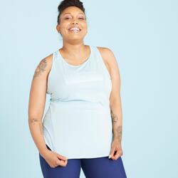 Top de Alças Comprido de Cardio Training 120 Mulher (tamanho grande)
