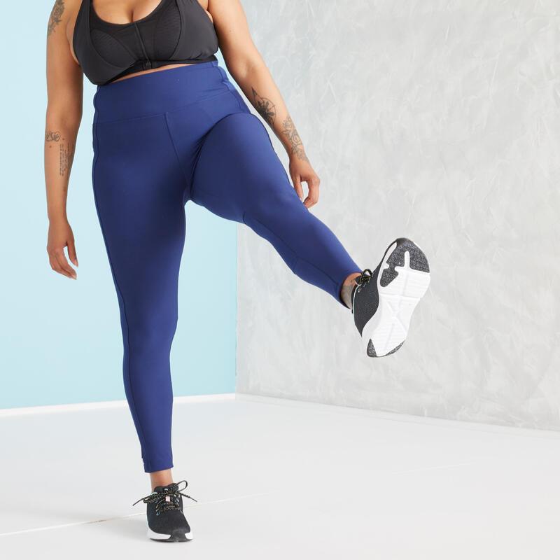 Mallas Leggings Mujer Fitness Con Bolsillo Azul