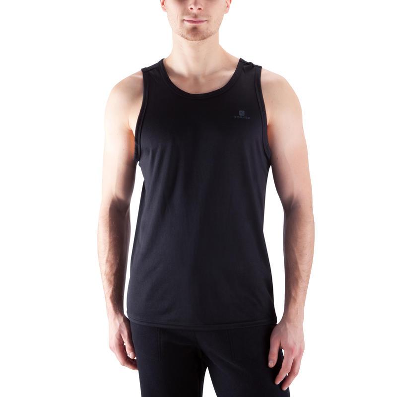 Camiseta sin mangas fitness cardio hombre negra Energy