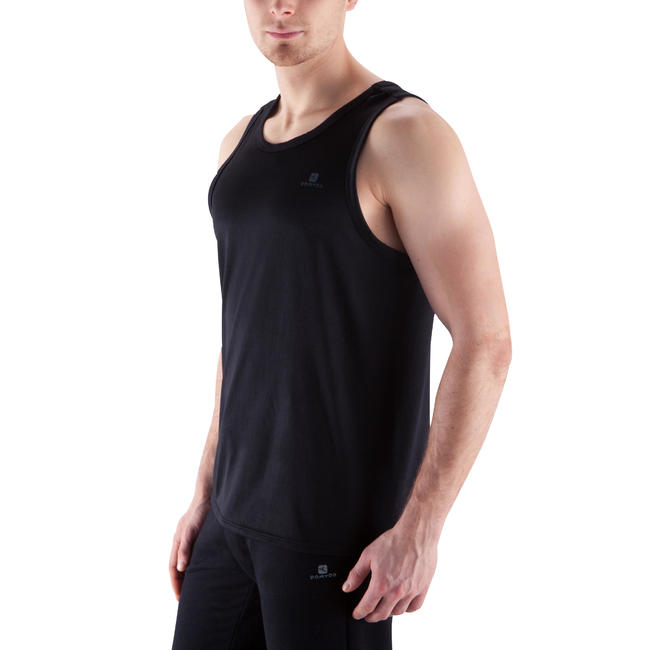 Men's Stay Dry Exercise Tank Top - Black