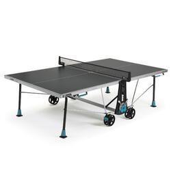 Tafeltennistafel voor free tafeltennis 300X outdoor grijs