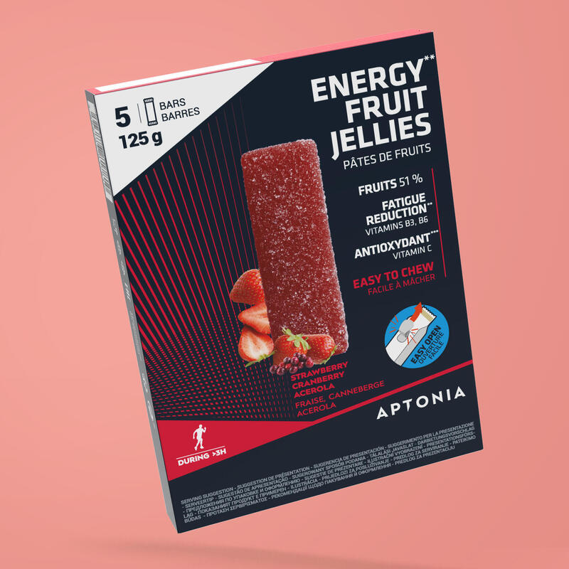 Gelatine di frutta energetiche fragola-cranberry-acerola 5x25 g