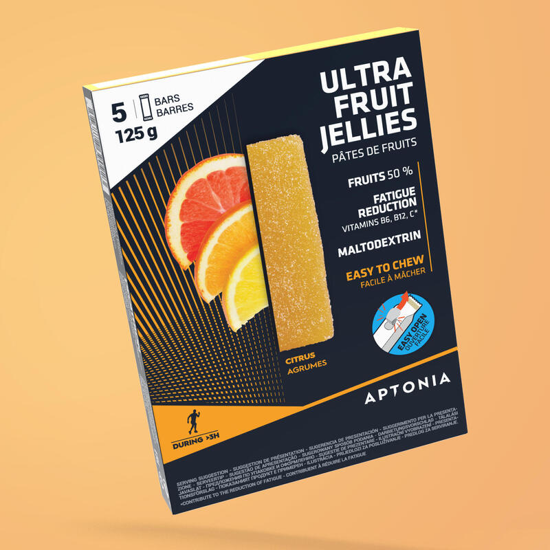 Gelatine di frutta energetiche agrumi 5x25 g