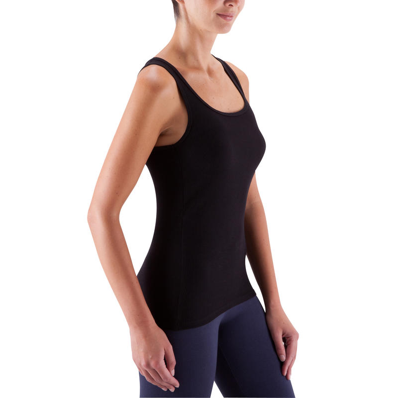 Women's Gym & Pilates Tank Top - Black